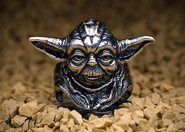 Collection of Star Wars rings by J.A.P. created for the 20th anniversary of the franchise. They've got all kinds of characters