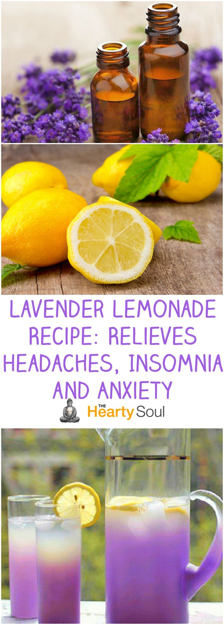Lavender Lemonade Recipe: Relieves Headaches, Insomnia and Anxiety