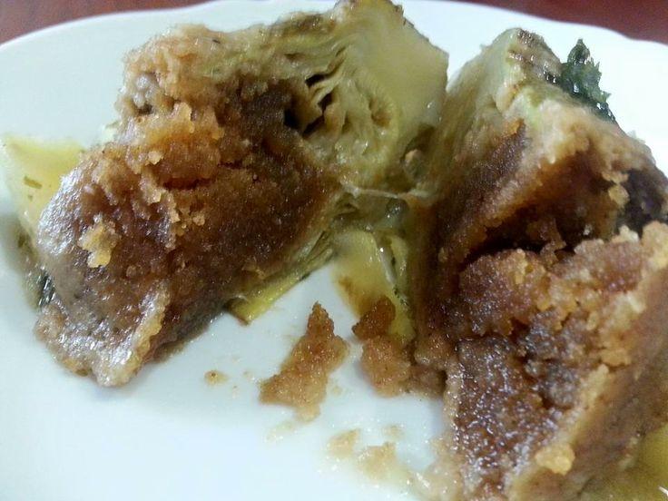 Carciofi Ripieni e Patate in Umido