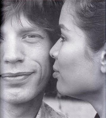 Mick and (1st wife) Bianca Jagger