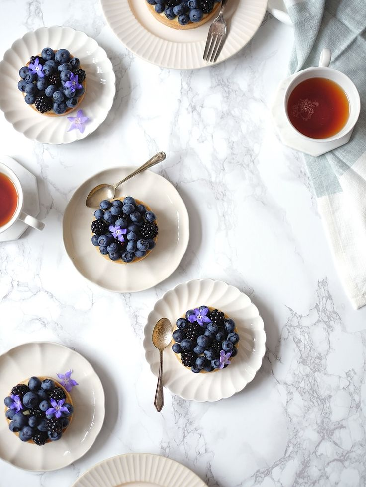 Blueberry and Blackberry Tarts with Lemon Verbena — The Boy Who Bakes