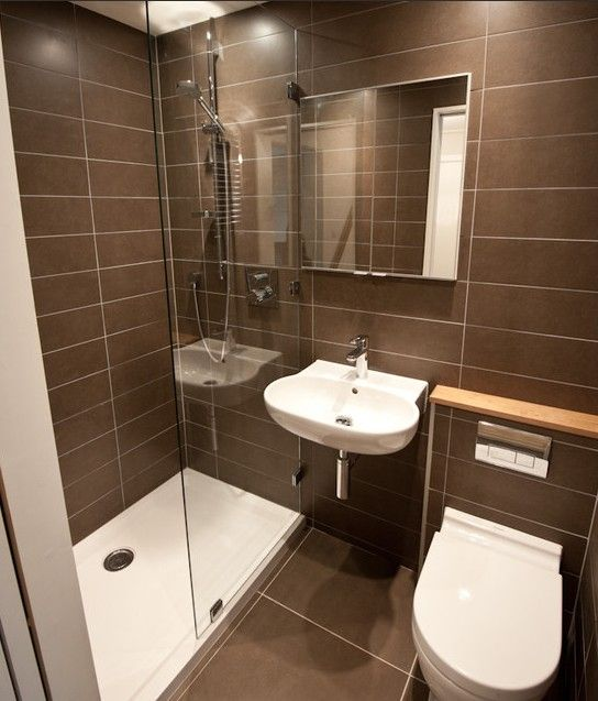 Small Ensuite Bathroom Tile Ideas: Tiling Is Too Uniform, But Good Use Of Space