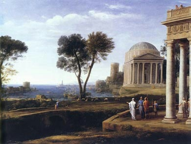 Landscape with Aeneas at Delos 1672 - Claude Lorrain