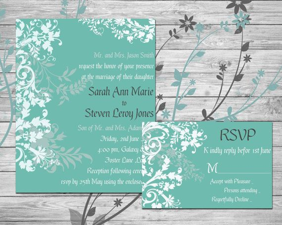 Floral Traditional Custom Wedding Invite by SansDesignDeck on Etsy
