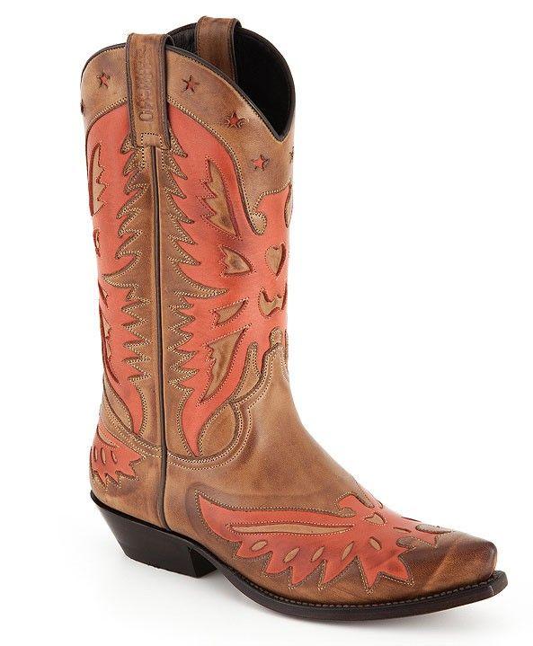 Sancho Abarca Boots 2257 Western Stiefel Calypso  Roter Cowboy Stiefel mit schrägem Absatz #sanchostore #westernboots #countrystyle #fashiongirl #westernstiefel http://www.sancho-store.ch/de/sancho-abarca-boots/sancho-abarca-boots-2257-calypso.html