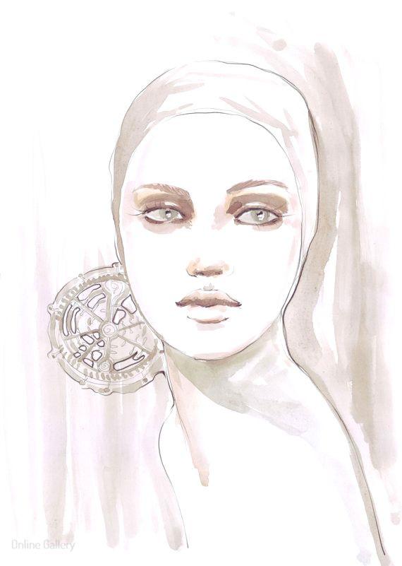 Ilustratie de moda  roz pal