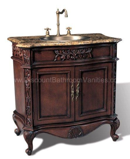 $897 York Single Sink Bathroom Vanity P5405 by Legion Furniture