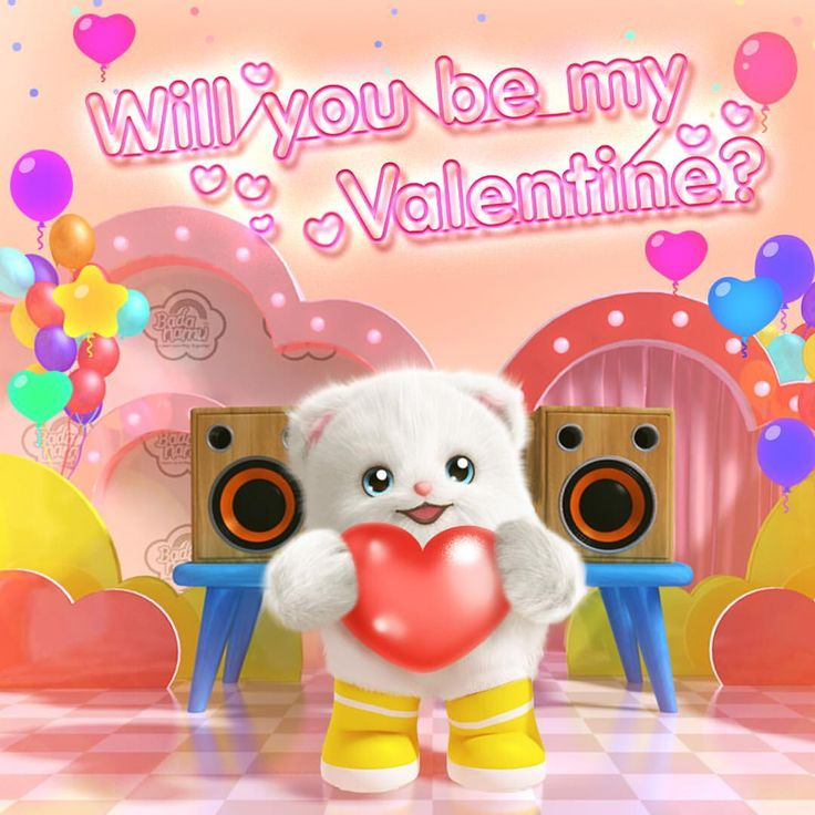 Happy Valentine's Day from fluffy little Bada! Who will be your Valentine this year? #Badanamu #HappyValentinesDay