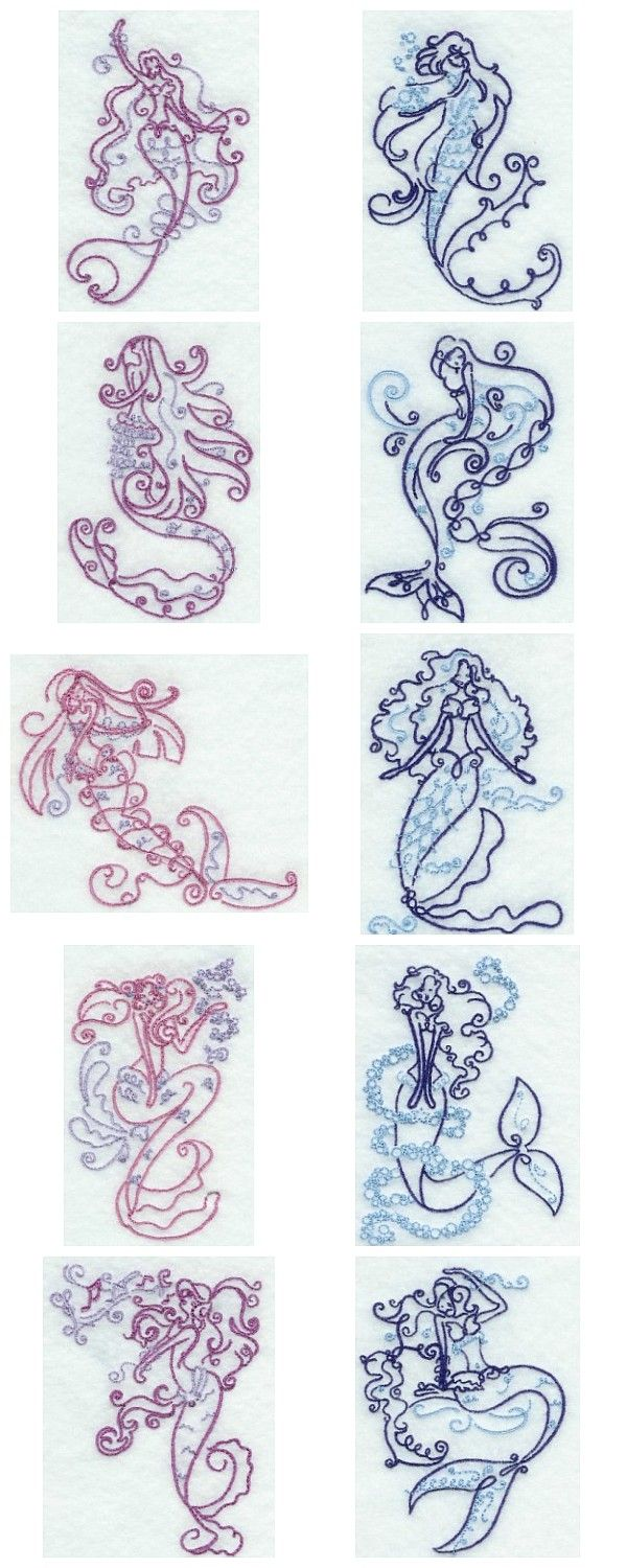 159 best embroidery machine designs images on pinterest art deco mermaids embroidery machine design details bankloansurffo Gallery