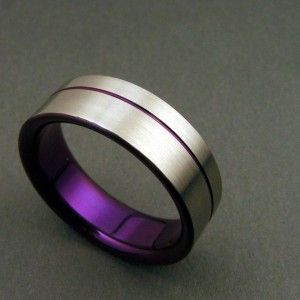 Wedding band with purple inside. Or whatever the wedding color is