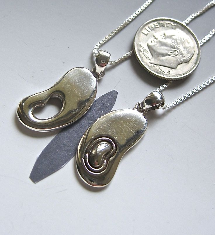 "Gift Set: Donor/Recipient Sterling ""Butterfly"" Wing Kidney Pendants / Transplant Gifts"