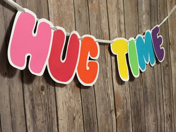 Rainbow Hug Time Trolls Banner Princess Poppy by lemonfancy