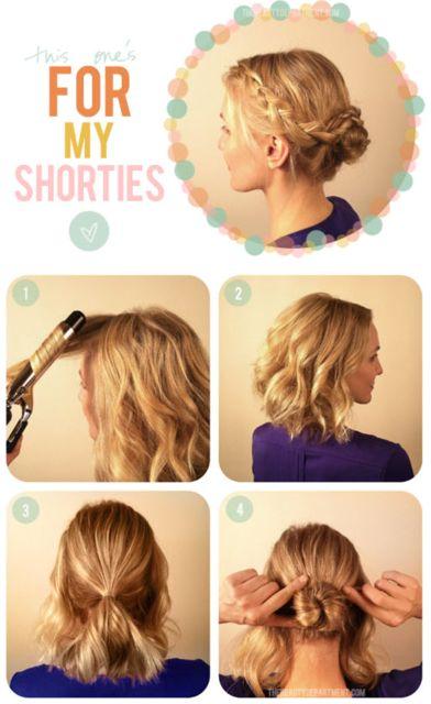 Chignon per capelli corti