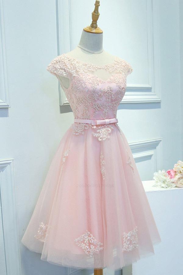 759b0fe7 Cute Prom Dresses, Pink Prom Dresses, Appliques Prom Dresses, Party Dress  Lace #Cute #Prom #Dresses #Pink #Party #Dress #Lace #Appliques # PinkPromDresses ...