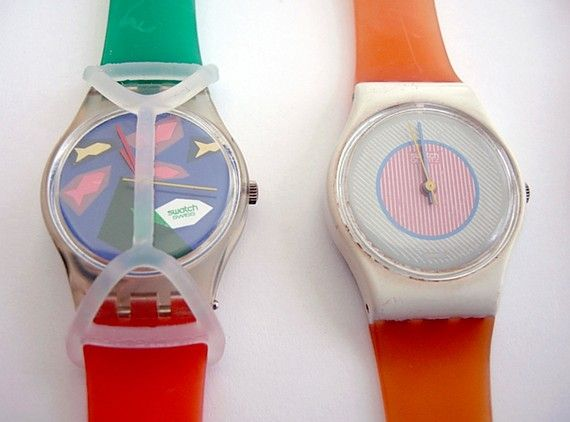 Swatch watches... don't forget your guard!