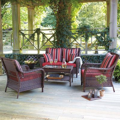 Brookshire Resin Wicker Patio Collection   Red Meijer