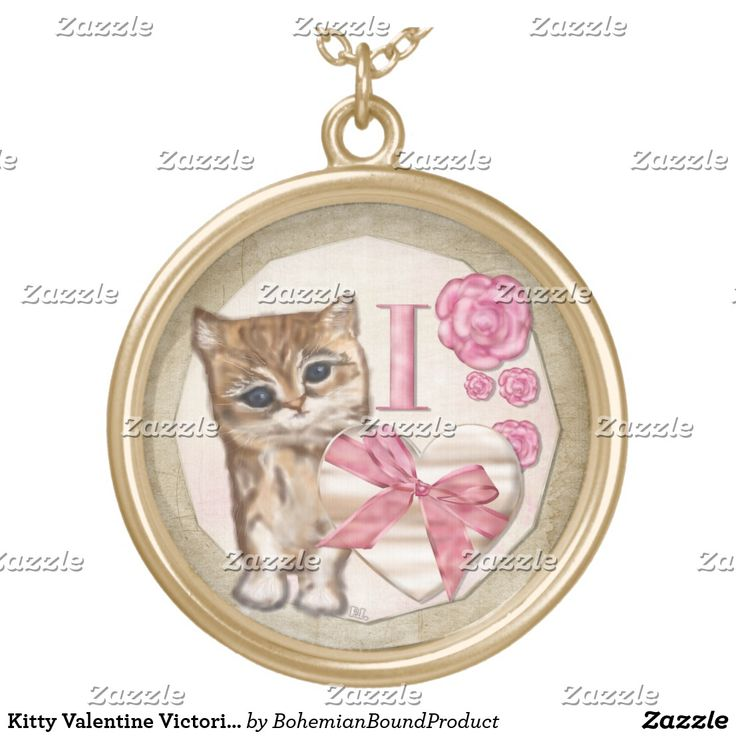 Kitty Valentine Victorian Mixed Media ALL NECKLACE
