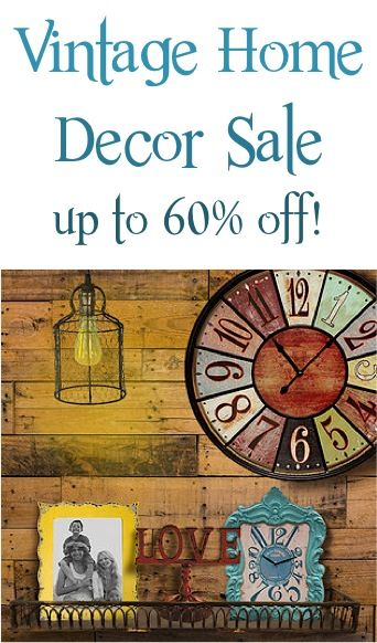 Vintage Home Decor Sale: up to 60% off!