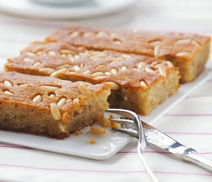 Shamali (extra syrupy Greek Semolina cake with Mastic)