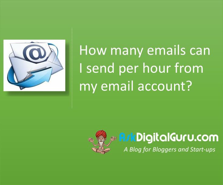 How many emails can I send per hour from my email account ?Wondering why your emails are not getting delivered? Get to know the emailing limits.