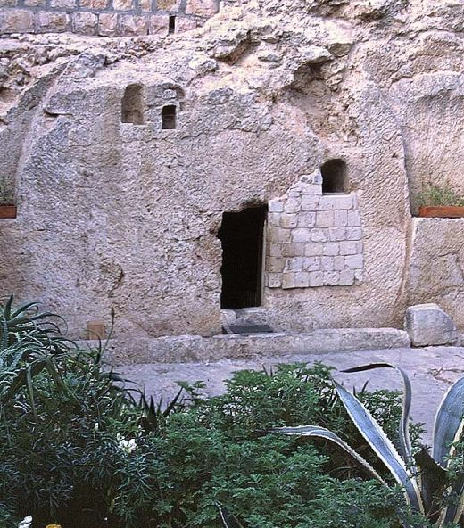 This is the tomb where they laid Jesus after His death on the cross...it's empty! I have been there. Jesus Lives! ASk me how I know HE lives, He lives within my heart!