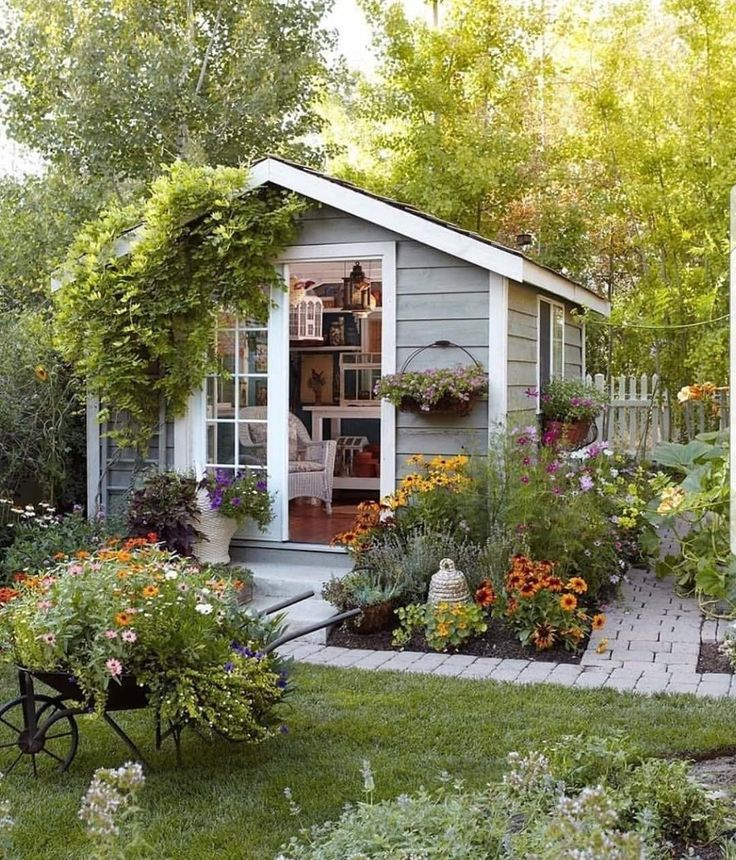 Картинка садовый домик