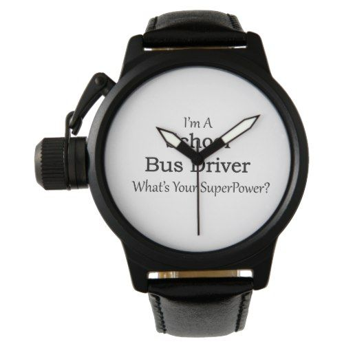 School Bus Driver Wristwatch