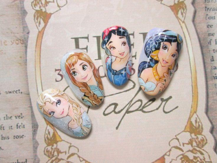 ディズニー(Frozen) : Character nail art