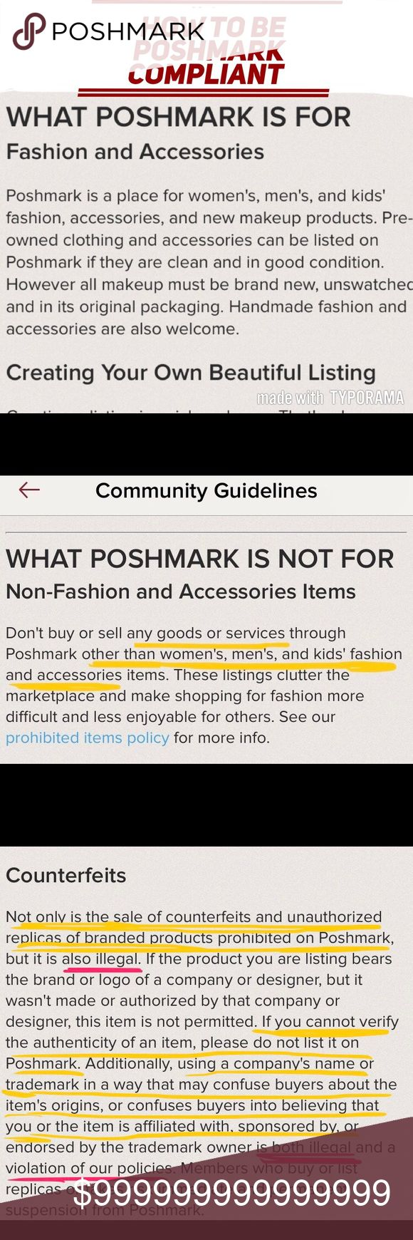 🌷WHAT DOES IT MEAN TO BE POSHMARK COMPLIANT???🌷 ⭐️NO counterfeits/fakes/inspired by ⭐️NO used makeup (SWATCHED = USED!) ⭐️NO liquids (lotion, toners, cleaners, shampoo, conditioner, moisturizer, serums, etc) ⭐️NO personal care items (deodorant, shampoo, conditioner, teeth whitening, moisturizers, etc) ⭐️NO electronics (game consoles, toasters, coffee makers, hair dryer/straightener, curling iron, etc) 🚫IF IT DOESN'T ABIDE BY USPS LAWS ITS PROHIBITED 🚫  Feel free to ask questions and/or…