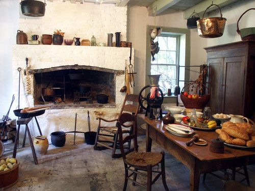Move back in time, way back, and feel at ease in this 17th century French kitchen