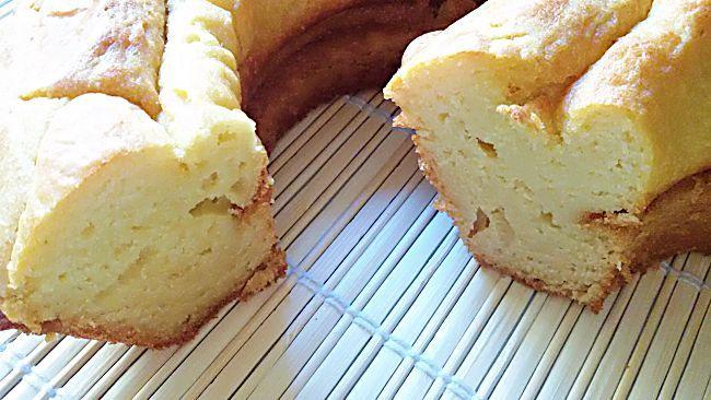 Bizcocho sin azúcar de crema pastelera
