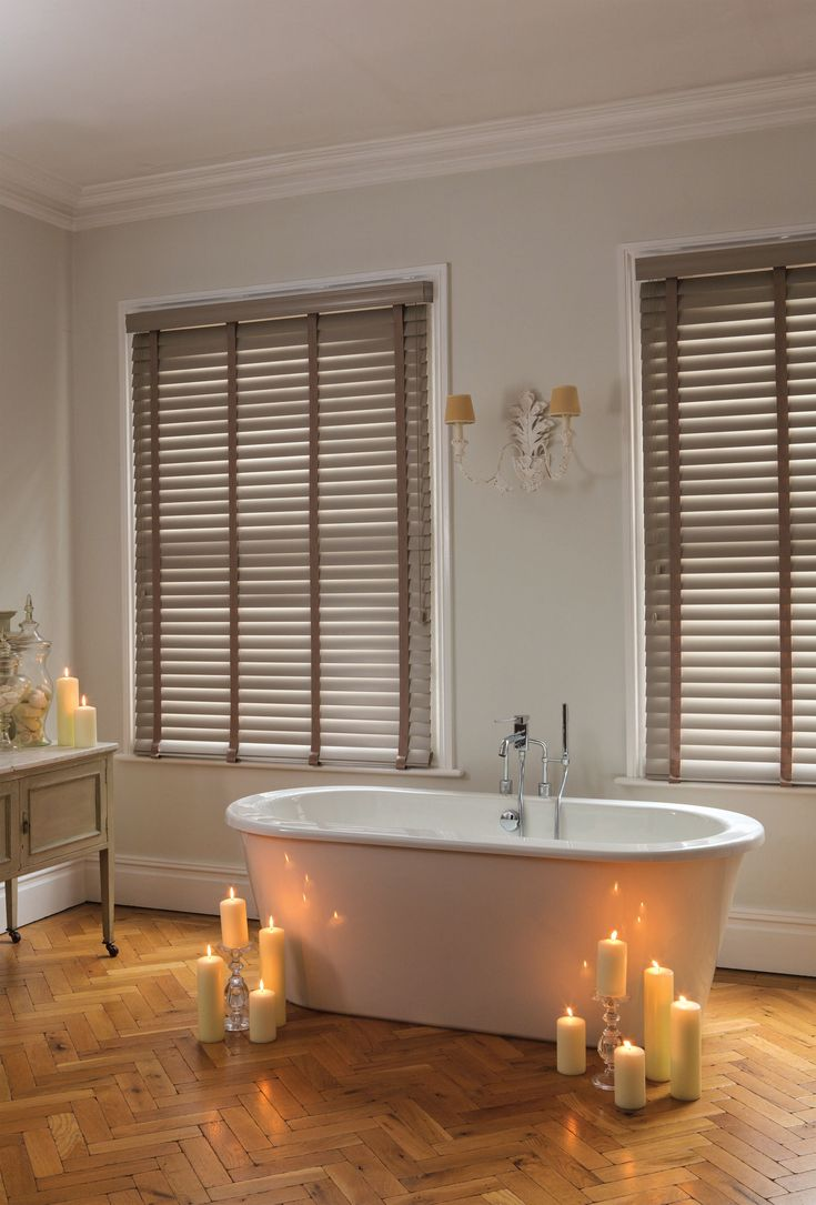 Window blinds bathroom - Made To Measure Wooden Venetian Blinds Wooden And Faux Wood Venetian Blinds