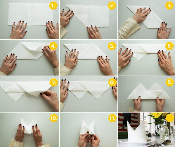 31 best servietten falten images on pinterest napkin. Black Bedroom Furniture Sets. Home Design Ideas