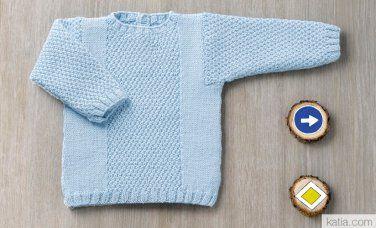 Catalogue Layette 82 Automne / Hiver   8: Layette Pull   Bleu ciel