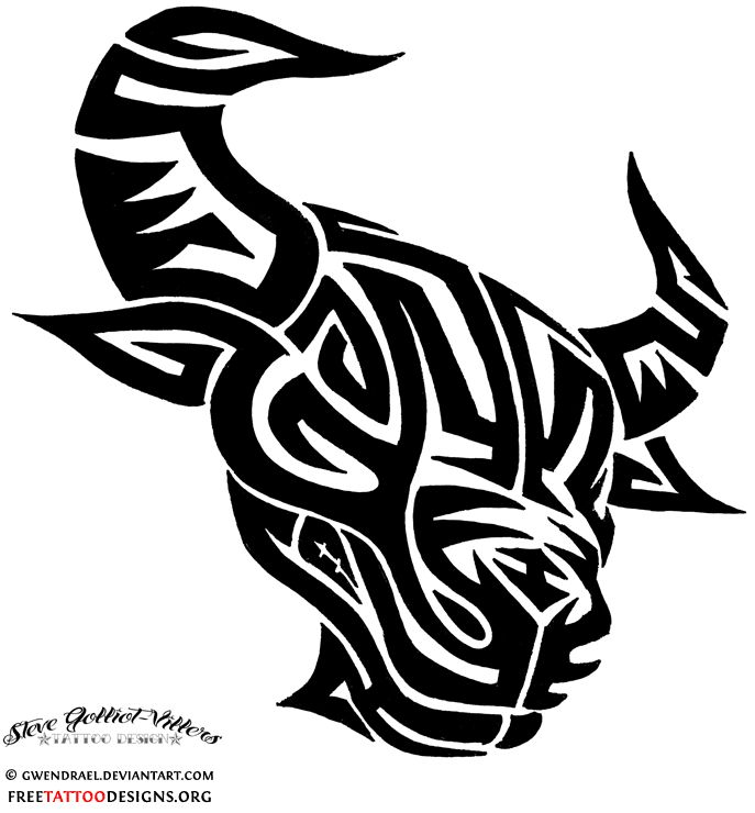 24 best tribal taurus tattoo stencils images on pinterest