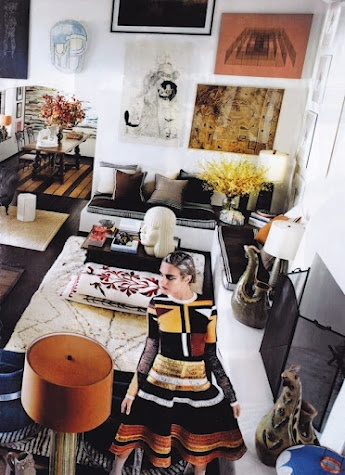 Mario Testino's home as featured in #VogueLiving