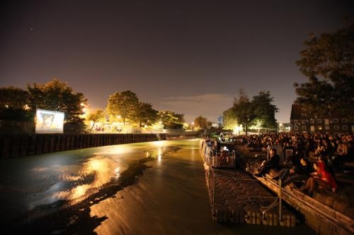 The Floating Cinema - Animating the waterways of East London, The Floating Cinema are launching a brand new Floating Cinema during the Summer of 2013 after their resounding success since opening in 2011.