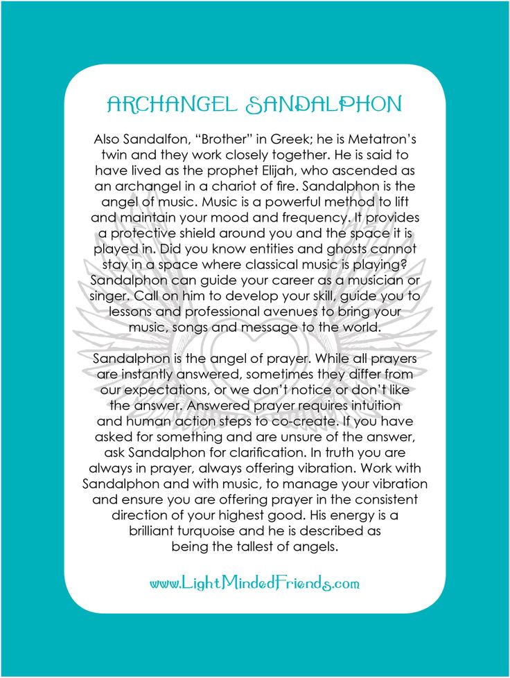 Archangel Sandalphon card.   Printed on 310gsm laminated, linen card stock. You get an Archangel cards included with our Archangel crystal bracelets, or they're available as a set of seventeen cards!