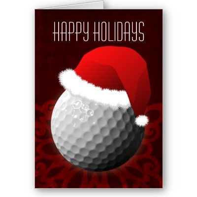Best Sports Holiday Greeting Cards Images On Pinterest Santa - Card template free: golf christmas cards
