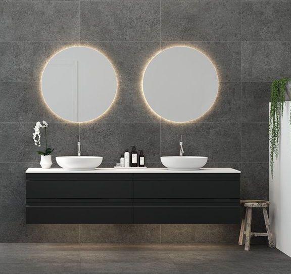 Dansani Zaro Waschtischunterbau 160 X 44 5 Cm Vier Schubladen Fur Zwei Becken Sonate Mercato In 2020 Runde Badezimmerspiegel Waschbecken Bad Wasche