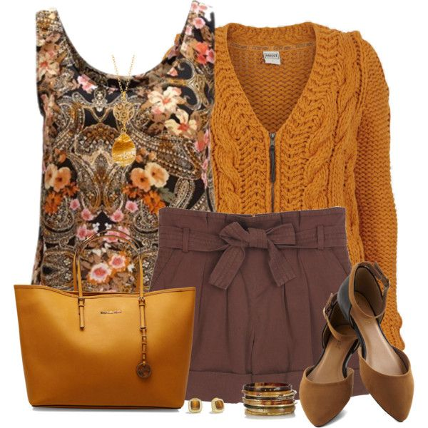 Brown Shorts for Autumn, created by daiscat on Polyvore