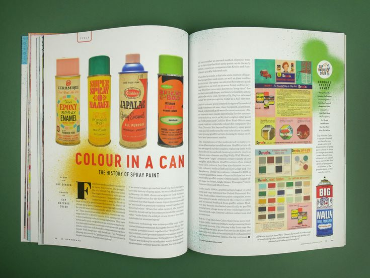 UPPERCASE issue 36 January/February/March 2018  The History of Spray Paint