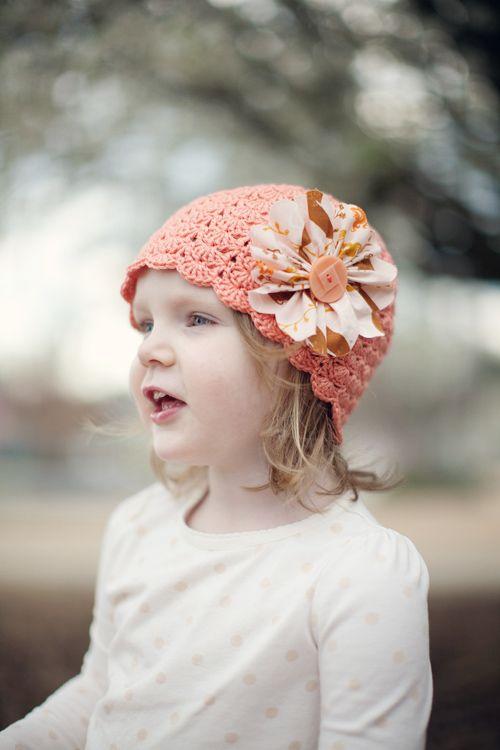 Crochet hat: Little Girls, Crafts Ideas, Free Pattern, Cute Hats, Crochet Hats Patterns, Little Sisters, Kids, Crochet Patterns, Fabrics Flowers
