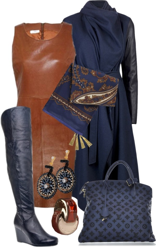 """Navy and Brown"" by gangdise on Polyvore"