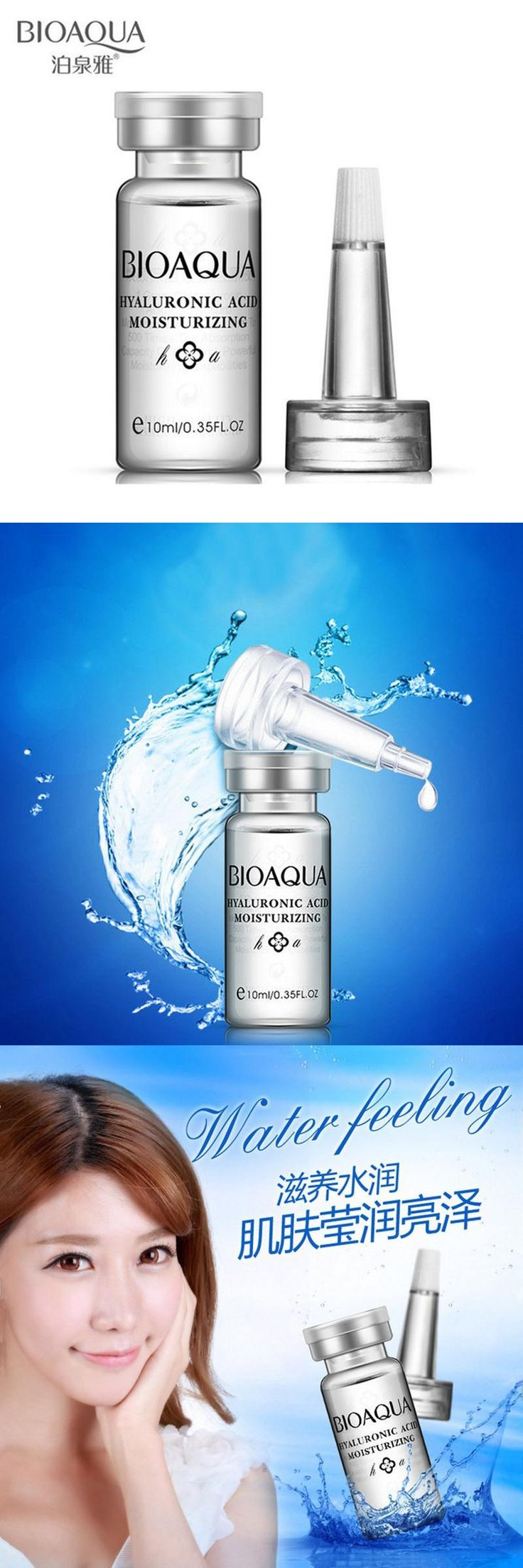 [Visit to Buy] BIOAQUA Skin Care 10ml Hyaluronic Acid Liquid Anti Wrinkle Anti Aging Collagen Essence Whitening Moisturizing Day Cream Oil #Advertisement