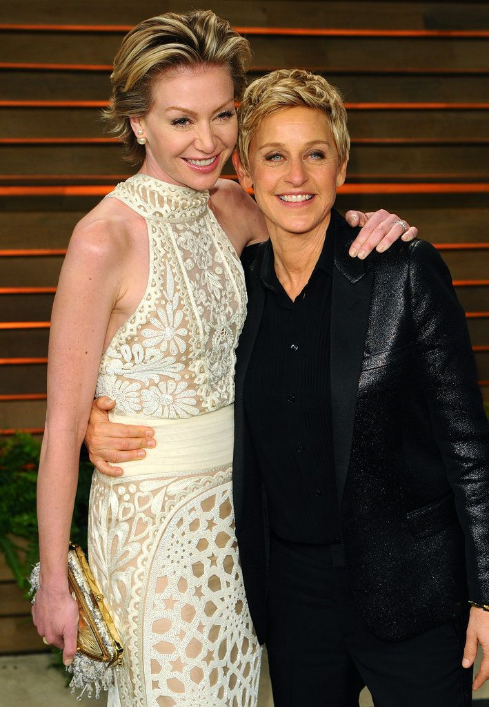 Ellen DeGeneres and Portia de Rossi tied the knot at their LA home in August 2008.