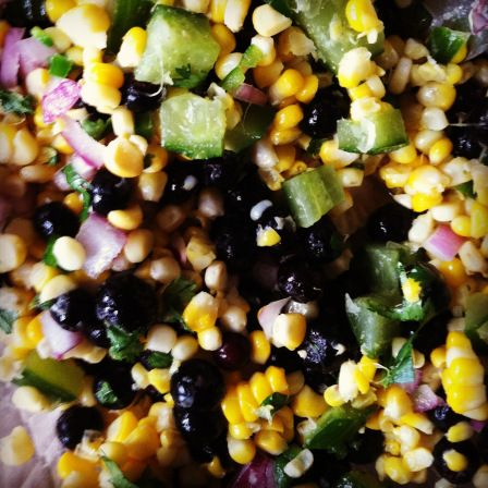 Blueberry and Corn Salad | Salads I want | Pinterest