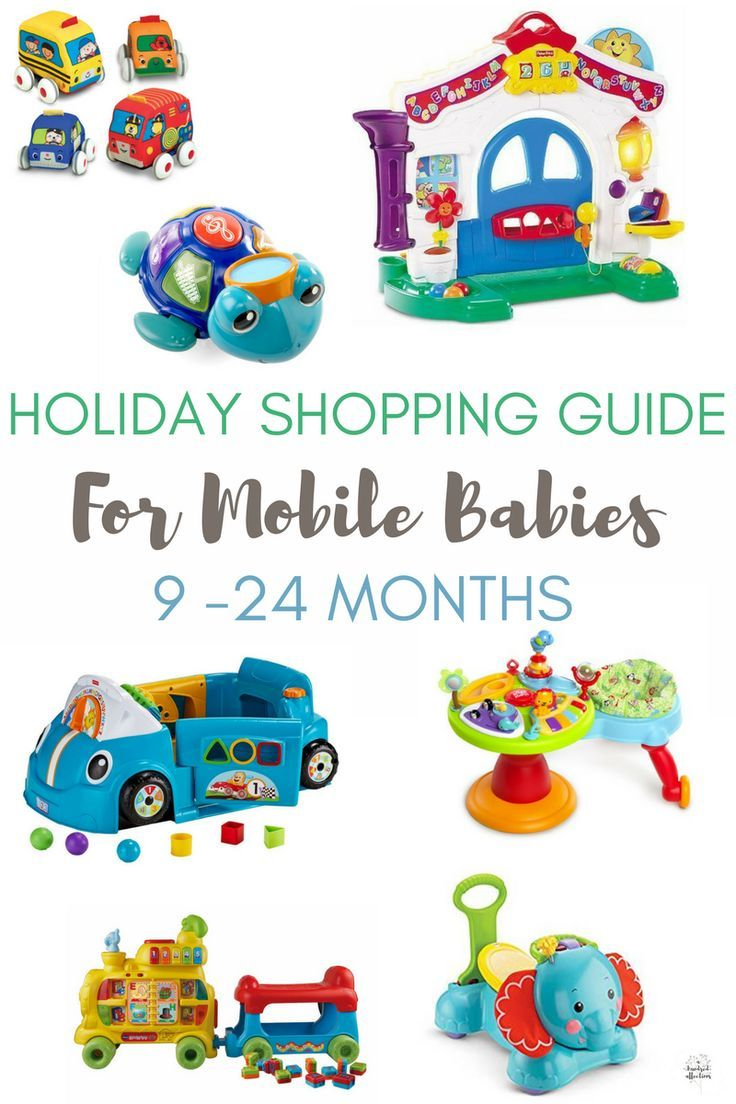 Need ideas for your baby who is now mobile and active? These gifts are kid-tested and approved and will keep your baby-to-toddler busy for a long while! #shopping #giftguide #babygift #christmas