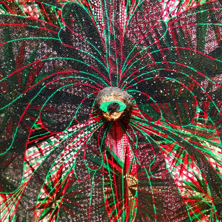 Detail from Chris Ofili's 'Triple eye vision 2000-2002' at AGNSW