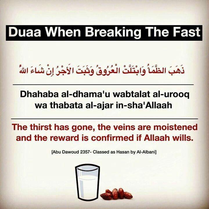 Dua for Breaking Fast